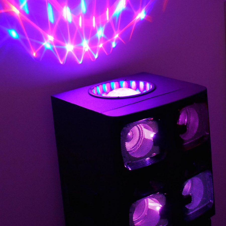 speakers with disco lights